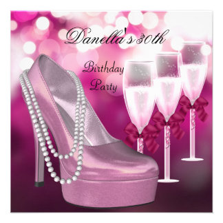 trigésimo Talones rosados Champán de los zapatos d Comunicados Personalizados