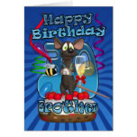 trigésimo Tarjeta de cumpleaños para Brother - rat