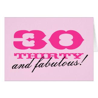 trigésimo ¡Tarjeta de cumpleaños para las mujeres