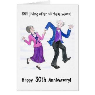 trigésimo Tarjeta de felicitación del aniversario