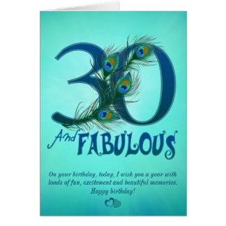 trigésimo Tarjetas de la plantilla del cumpleaños