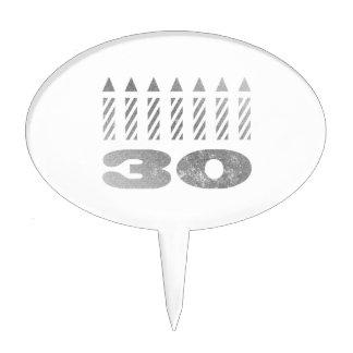 trigésimo Velas del cumpleaños Decoración De Tarta