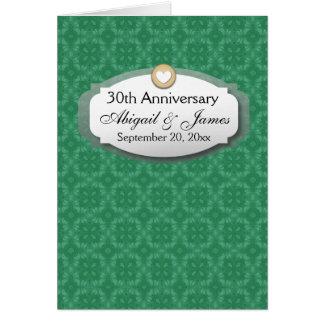 trigésimo Verde Z08 del aniversario de boda del Tarjeta Pequeña