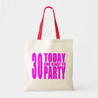 Trigésimos cumpleaños de los chicas: 30 hoy y bolsa tela barata