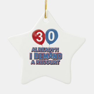 trigésimos diseños del cumpleaños ornamento para arbol de navidad
