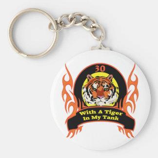 Trigésimos regalos de cumpleaños del tigre llaveros