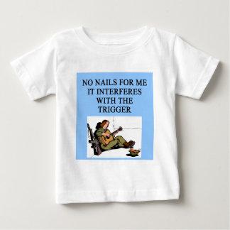 trigger finger gun jokes baby T-Shirt