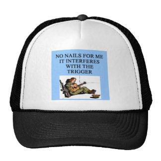 trigger finger gun jokes hats
