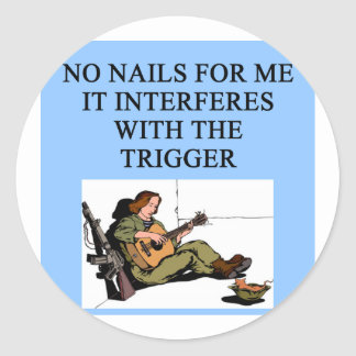 trigger finger gun jokes sticker