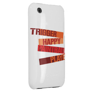 Trigger Happy Paintball Player  Case-Mate Case iPhone 3 Cases