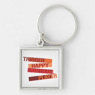 Trigger Happy Paintball Player Key Chain