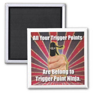 Trigger Point Ninja ® All Your Trigger Points 2 Inch Square Magnet