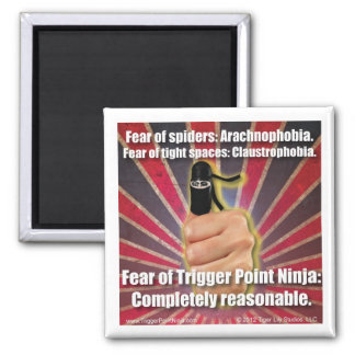Trigger Point Ninja ® Completely Reasonable 2 Inch Square Magnet