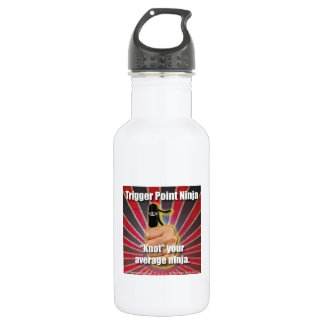 "Trigger Point Ninja ® ""Knot"" Your Average Ninja Stainless Steel Water Bottle"