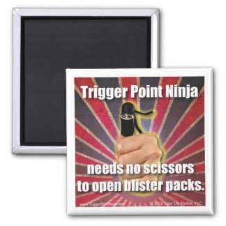 Trigger Point Ninja ® Needs No Scissors 2 Inch Square Magnet