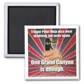 Trigger Point Ninja ® Went Skydiving Once 2 Inch Square Magnet