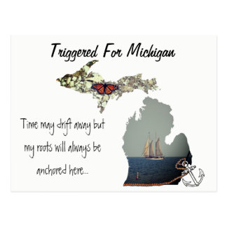 Triggered For Michigan Postcard