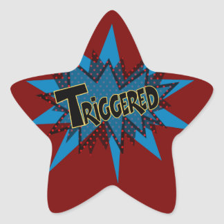 Triggered Star Sticker
