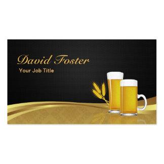 Trigo de cristal de la taza de la cerveza - tarjetas de visita