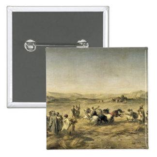Trigo de trilla en Argelia, 1853 Pin Cuadrado