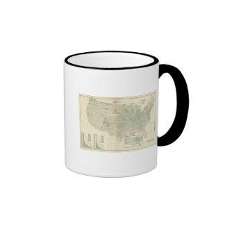 Trigo por milla sq taza de café