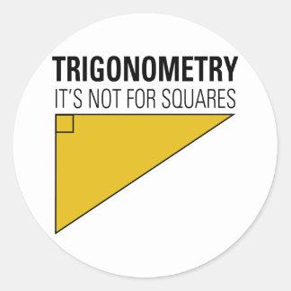 Trigonometry Classic Round Sticker