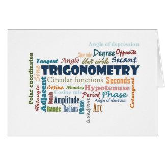 Trigonometry_Display Greeting Card