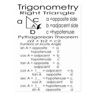 trigonometry postcard