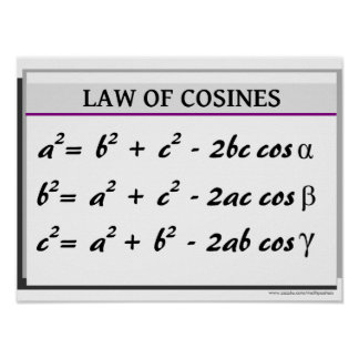 Trigonometry Poster: Law of Cosines Poster