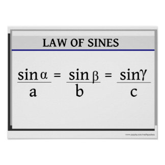 Trigonometry Poster: Law of Sines Poster