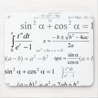 Trigonometry Sin Cos Construct Mouse Pad