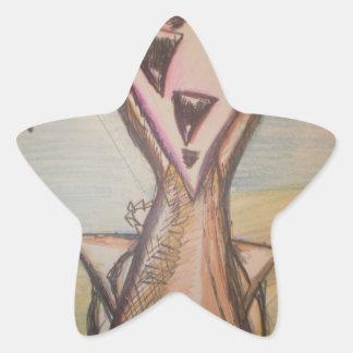 TrigoSunday Pegatina En Forma De Estrella