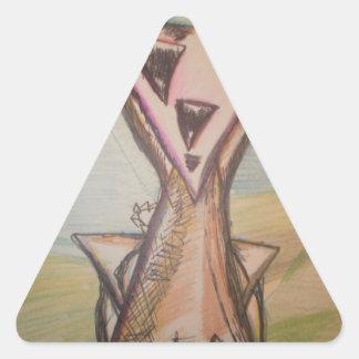 TrigoSunday Pegatina Triangular
