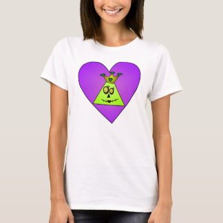 TriHeads Purple Heart Zombie Princess T-Shirt