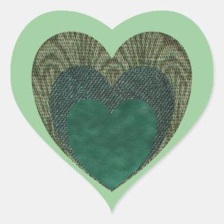 TriHeart Heart Sticker