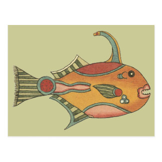 Triigerfish with top hook postcard
