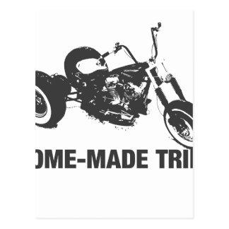 Trike hecho en casa tarjeta postal