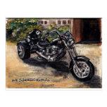 Trike motorcycle post card