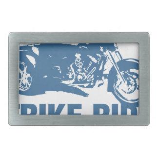trike ride rectangular belt buckle
