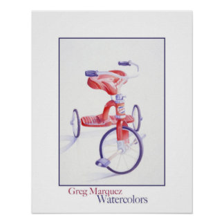 Trike rojo poster