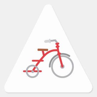 Trike rojo pegatina triangular
