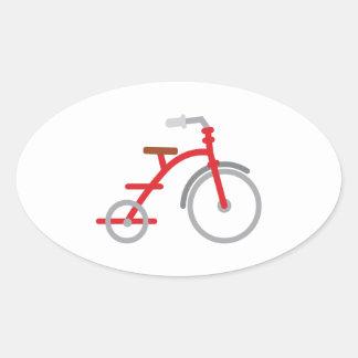 Trike rojo pegatina ovalada