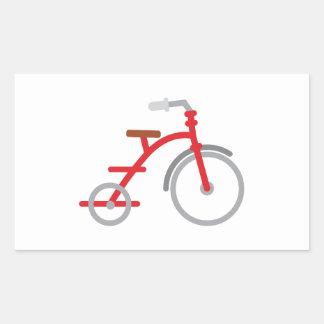 Trike rojo pegatina rectangular
