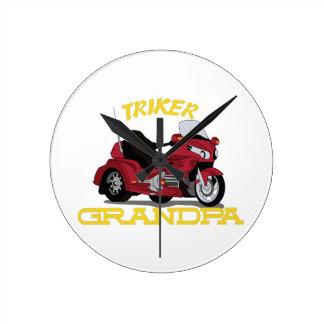 Triker Grandpa Round Clock