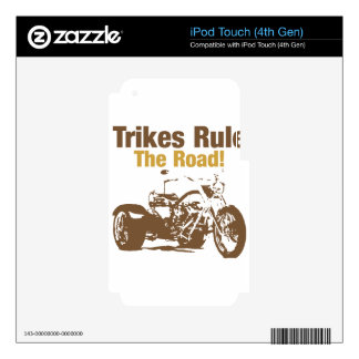 trikes rule the road iPod touch 4G decal