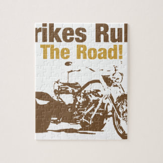 trikes rule the road jigsaw puzzle