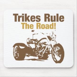 trikes rule the road mouse pad