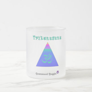Trikonasana Frosted Glass Coffee Mug