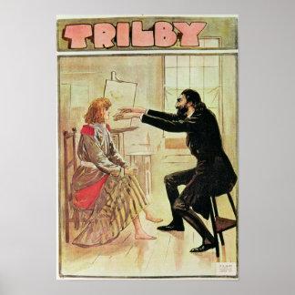 Trilby hypnotised by Svengali Poster