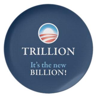 TRILLION IS THE NEW BILLION DINNER PLATE
